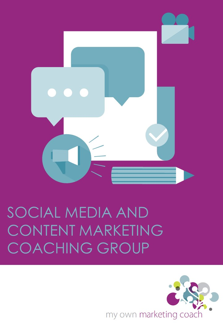 Social media and content marketing coach group from My Own Marketing Coach